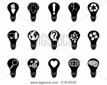 Light Bulb Idea Icons Set