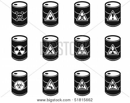 Toxic Hazardous Waste Barrels Icon