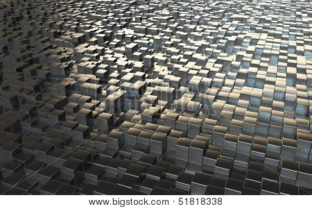 Abstract Background Steel Cubes