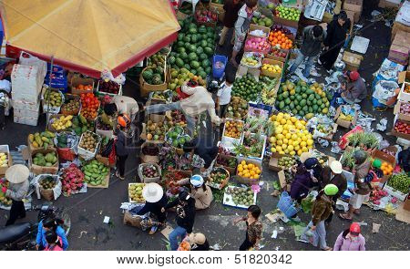 Fruits open air market/ flea market