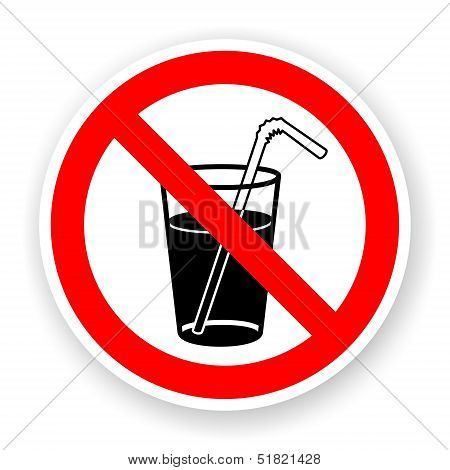 Sticker Of No Drink Sign