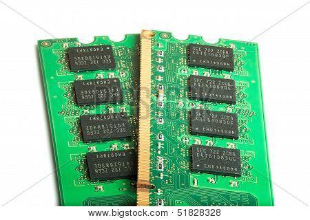 Ram Memory Modules On White