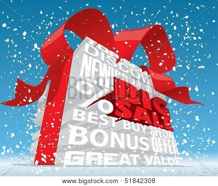 Winter Big Sale 3d Text