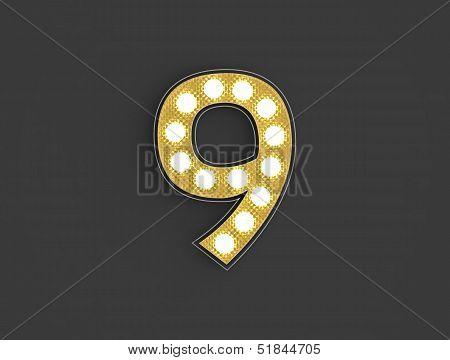 Light Vintage Number Nine