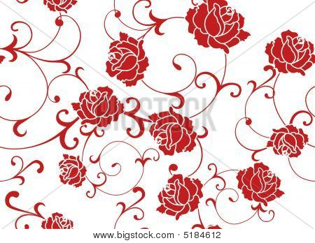 seamless Floral Rose Pattern