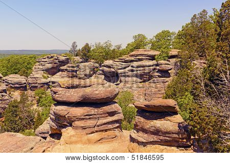 Sandstone Bluffs In The Wilderness