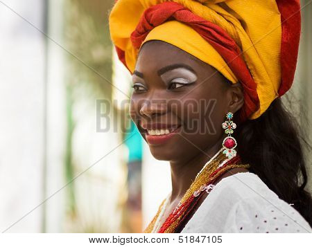 Baiana, Brazilian Woman Dressed in Traditional Attire