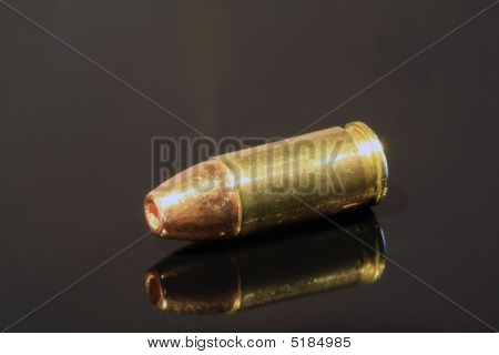 9Mm Hollow-point On Black