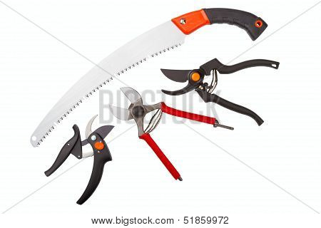 Garden Secateurs And Hacksaw