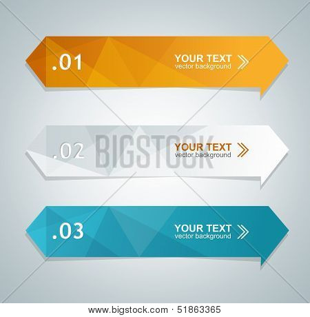 Vector colorful text box