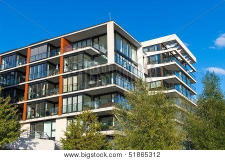 Modern apartment houses in Hamburg