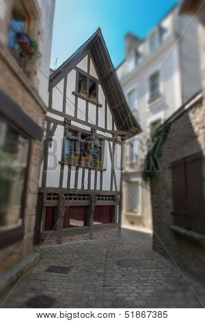 Medieval houses in a small French town called Quimperl