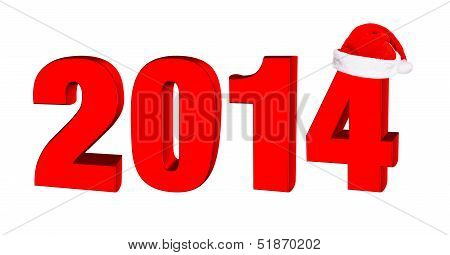 New Year 2014, 3D Text