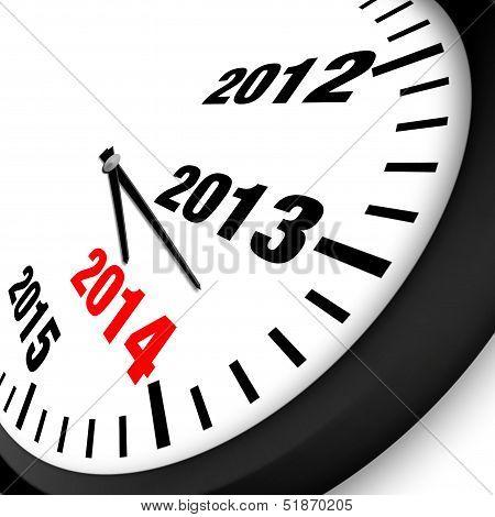2014 New Year Clock