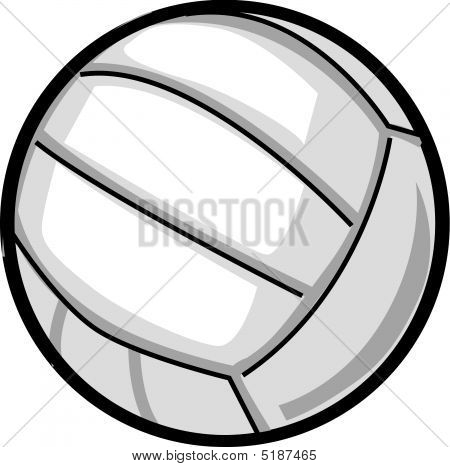 Volleyball With Thick Outline