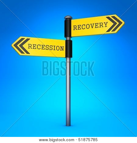 Recession or Recovery. Concept of Choice.