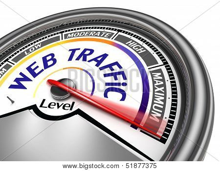 Web Traffic Meter Conceptual