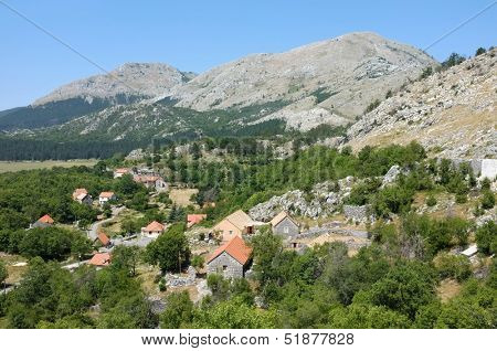 Njegusi is a village within the Lovcen National Park, Montenegro. The village is best known as the birthplace of the Petrovic dynasty