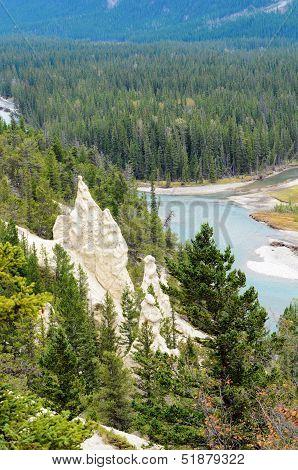 The Hoodoos In Banff National Park