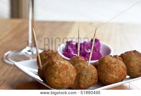Fried Hummus Balls