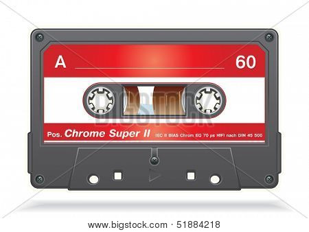 XXL icon of Vector audio cassette tape