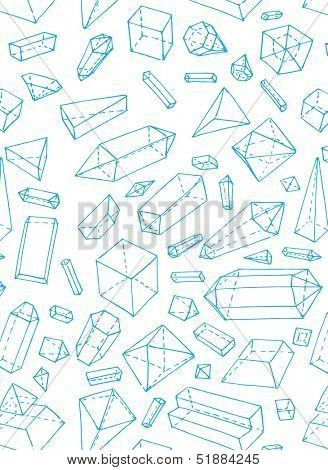 crystals and gems, seamless pattern