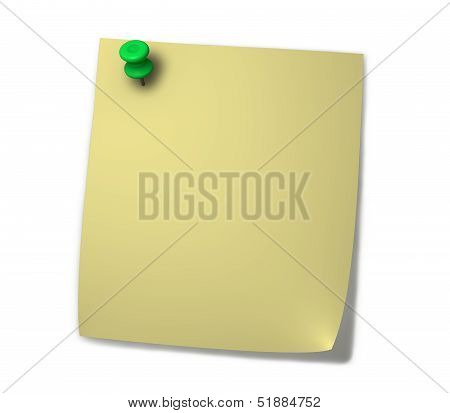 Yellow Post it Blank