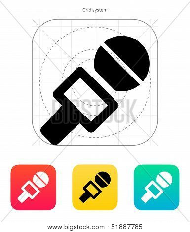 Journalist microphone icon.