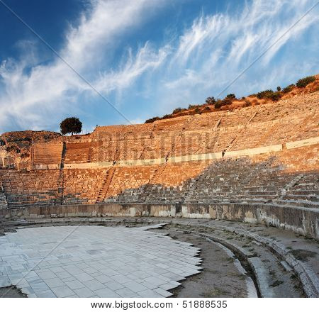 Ampitheater In Ephesus