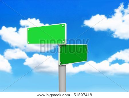 Empty Sign board for you to use