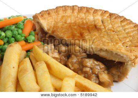 Chicken Pie And Chips