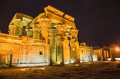 picture of horus  - Temple of sobek and horus at kom ombo - JPG