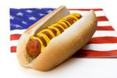Hot Dog und Flagge