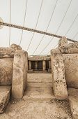 pic of megaliths  - Mnajdra Temple within Hagar Qim megalithic complex one of the most ancient religious sites on Earth in Malta - JPG