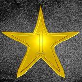 Постер, плакат: Золотая звезда