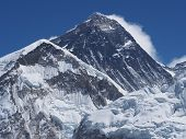 picture of sherpa  - The peak of Mount Everest seen from Kala Patthar in the Nepal Himalaya - JPG