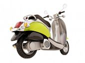 image of scooter  - Modern classic scooter isolated on a white background - JPG