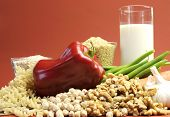 Llow Gi Glycemic Index Foods - Milk, Brown Rice, Buckwheat, Green Beans, Carrot, Onion, Pasta, Chick