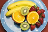 stock photo of fruit platter  - Platter of fruit  - JPG