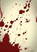stock photo of gash  - Abstract grunge red blood splatter background texture - JPG