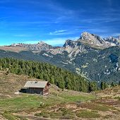 Alpine Hut In The Dolomites