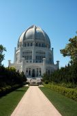 stock photo of zoroaster  - The Bahai House of Worship for the North American Continent - JPG