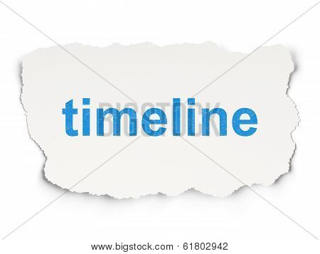 Time concept: Timeline on Paper background