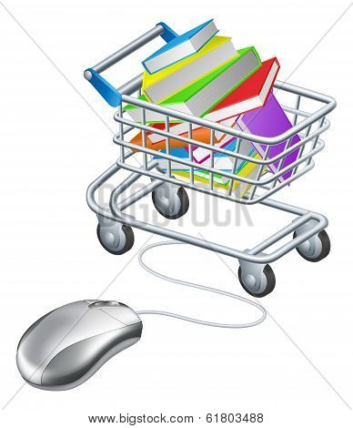 Books Mouse Internet Trolley