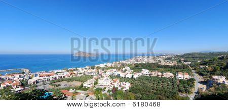 Platanias Elevated Panorama