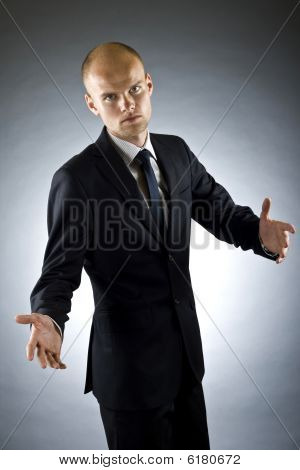 Businessman Welcoming Guests