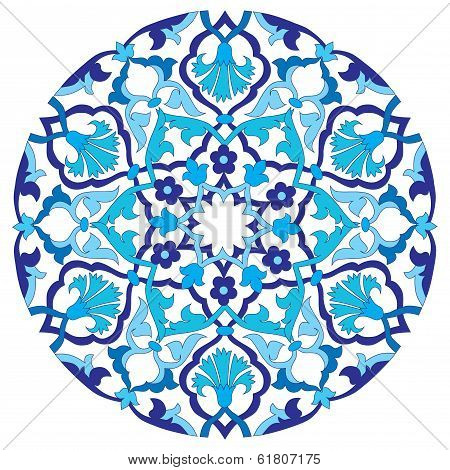Blue Oriental Ottoman Design Twenty-four