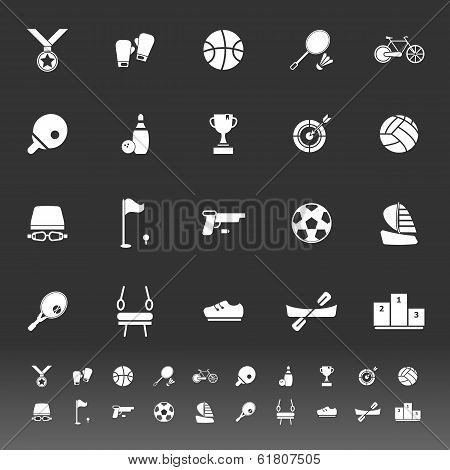 Sport Game Athletic Icons On White Background
