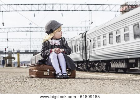Girl At The Train Station