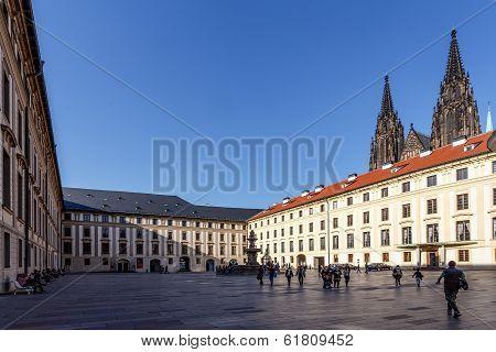 Courtyard Of Prague Castle